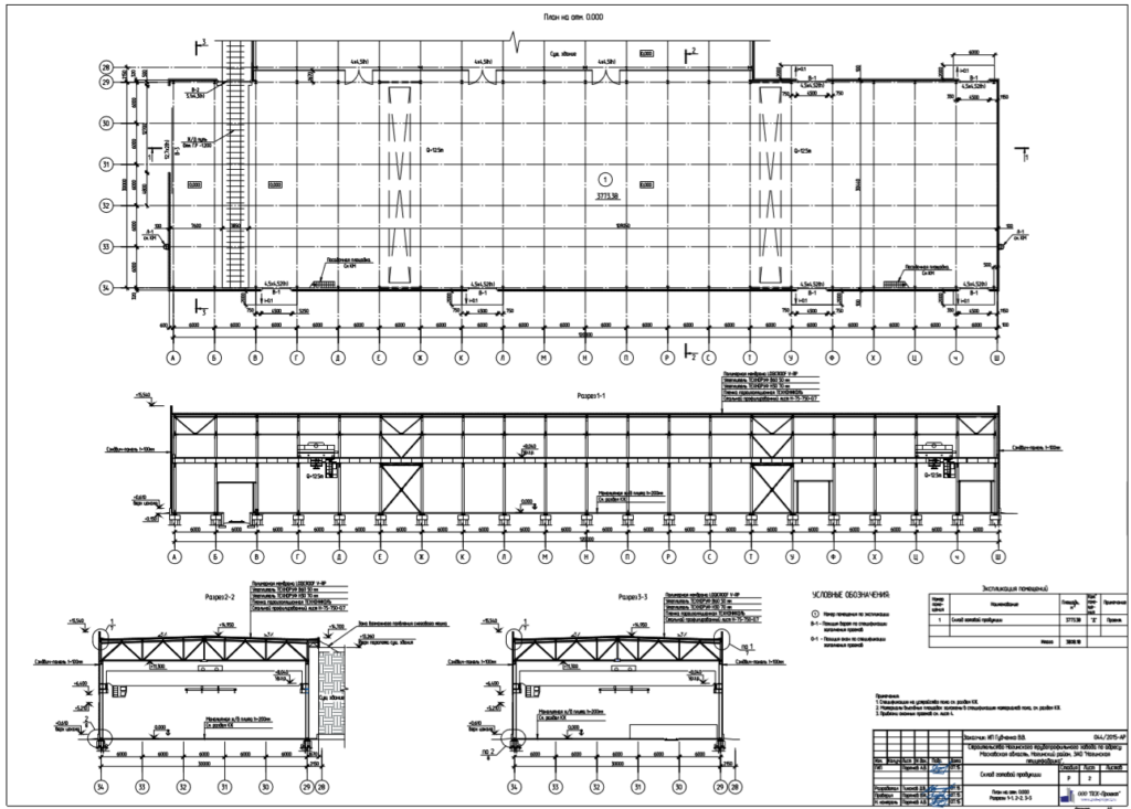 Разработка проектной документации на промышленное здание